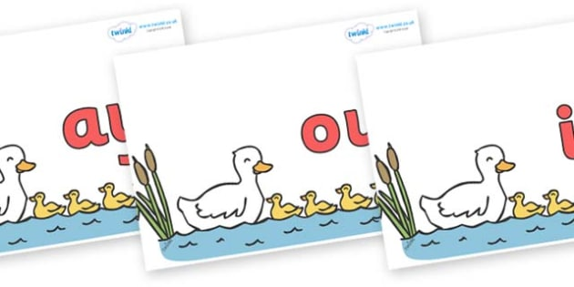 Phase 5 Phonemes on Five Little Ducks - Phonemes, phoneme, Phase 5, Phase five, Foundation, Literacy, Letters and Sounds, DfES, display