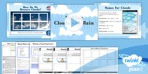 Geography: Water: Making Clouds and Rain Year 4 Lesson Pack 3