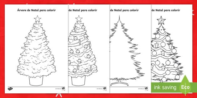 Paginas De Colorir Arvores De Natal Natal Natal Arvore Colorir