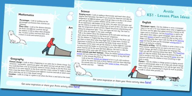 Arctic Lesson Plan Ideas KS2 - arctic, lesson plan, KS2, lessons