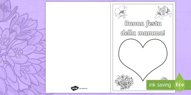 Festa Della Mamma Colora Con Le Dita Biglietto Dauguri