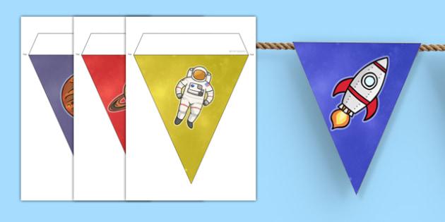 World Space Week Bunting - displays, display, visual, visuals