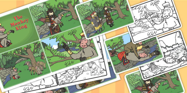 Monkey King Visual Aids Out Of Order 4xA4 - monkey king, visual
