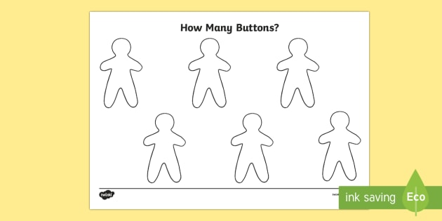 Gingerbread Man Buttons Activity Sheet - The Gingerbread Man, Traditional Tales, maths, number, add, subtract, double, halve, recognising num