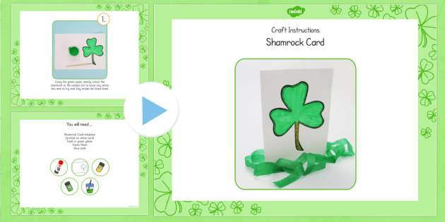 Shamrock Card Craft Instructions PowerPoint