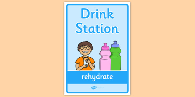 Drink Station Display Poster - drink station, display banner, display, banner, drink, station