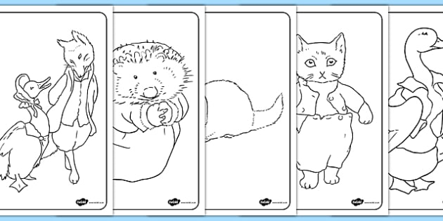 Beatrix Potter Colouring Pages - beatrix potter, author