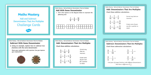 NEW * Year 5, Fractions and Decimals, Add and Subtract