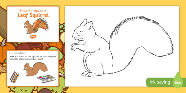 Leaf Squirrel Craft Instructions