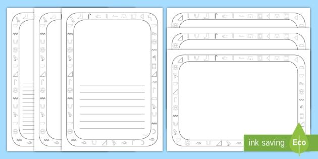 Cartouche Writing Frames