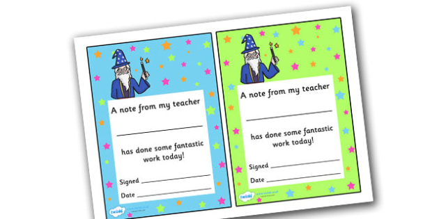 Note From Teacher Wonderful Work - note from teacher wonderful work, wonderful work, note from teacher, notes, praise, comment, note, teacher, teacher's, parents, good work