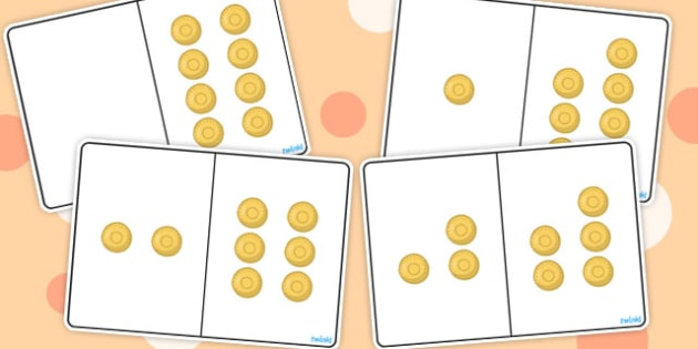 Pirate Gold Coins Counting Number Bonds to 8 - numbers, numeracy
