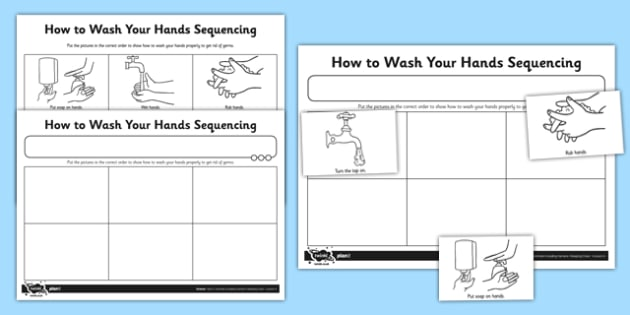 How to Wash Your Hands Worksheet / Activity Sheet - hygiene