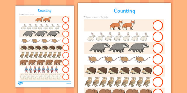 The Mitten Counting Sheet - the mitten, counting sheet, counting