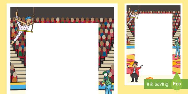 Circus Themed Editable Notes - teacher notes, praise note, praise
