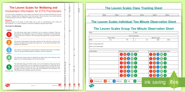 Assessment & Targets The Leuven Scales Early Years (EYFS