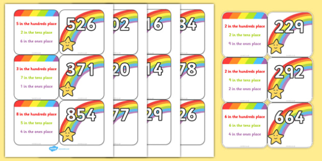 Place Value Matching Game - place value, place value matching cards, place value matching activity, ks2 numeracy matching cards, ks2 numeracy