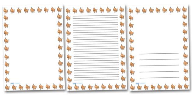 Baby Cat Kitten Portrait Page Borders- Portrait Page Borders - Page border, border, writing template, writing aid, writing frame, a4 border, template, templates, landscape
