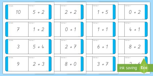 addition bis 10 dominokarten mathe rechnen plus aufgaben zahlen. Black Bedroom Furniture Sets. Home Design Ideas