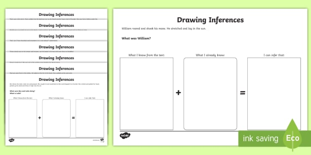 Making Inferences from Text Worksheet / Activity Sheets