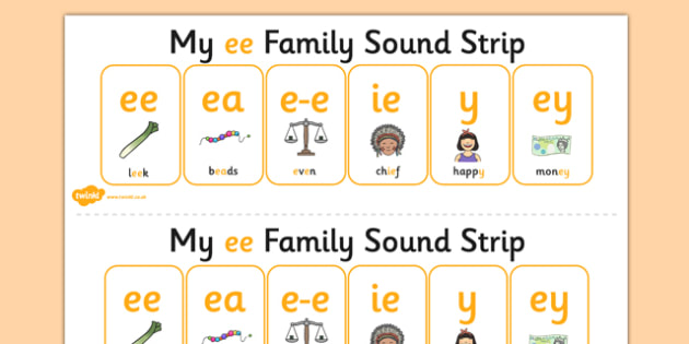My Ee Sound Family Strip Sound Family Ee Alternate