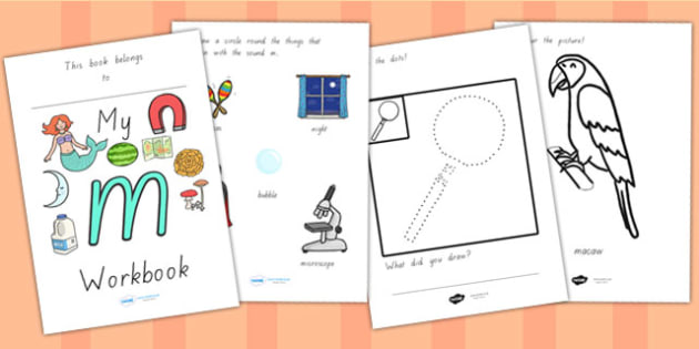 My Workbook M Lowercase - letter formation, writing, tracing