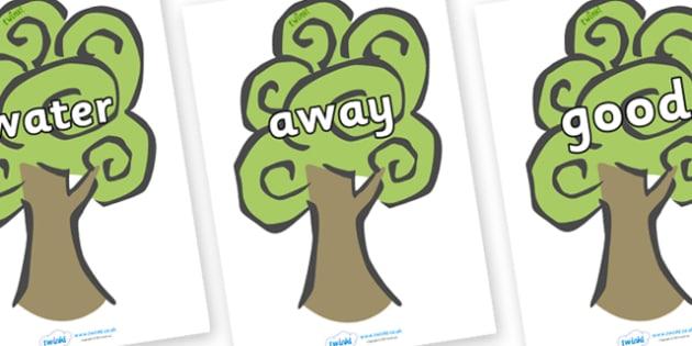 Next 200 Common Words on Trees - Next 200 Common Words on  - DfES Letters and Sounds, Letters and Sounds, Letters and sounds words, Common words, 200 common words