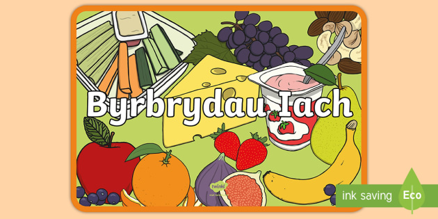 Byrbrydau Iach Posteri Arddangos - Dysgu Cymraeg fel Ail Iaith,Welsh
