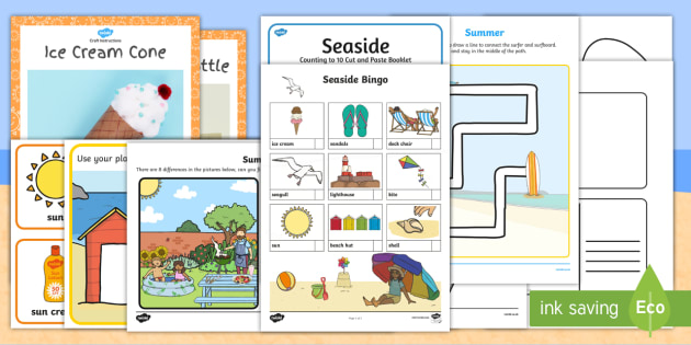 * NEW * Summer Holiday CfE Early Level Activity Pack - summer
