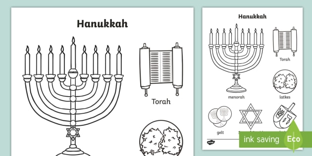 HANUKKAH coloring pages - Coloring pages - Printable Coloring ... | 315x630