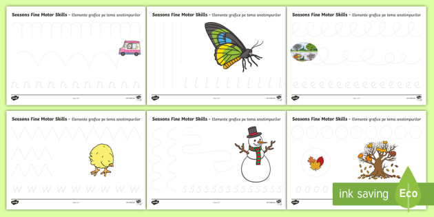 four seasons fine motor skills worksheet activity sheets