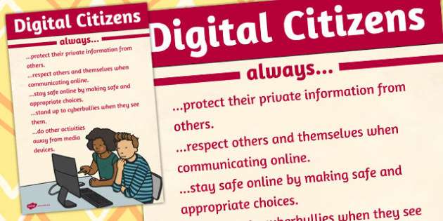 Digital Citizens Poster - digital, citizens, poster, internet