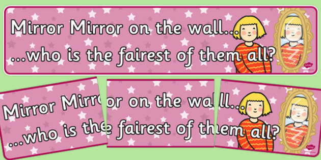 Mirror, Mirror on the Wall Display Banner - display banner, mirror