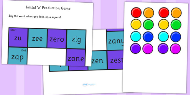 z and Vowel Production Game - z, vowel, sounds, sound, games