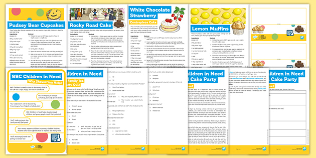 BBC Children in Need: Tea and Cake Party Activity Pack for Parents