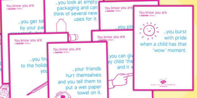 You Know You're a Teacher When Posters - teacher, posters, know