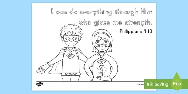 pre k philippians 413 coloring page bible memory memory verse - Philippians 4 6 Coloring Page