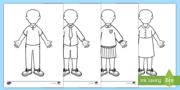 New What Will I Wear At School Colouring Pages Eyfs Early Years
