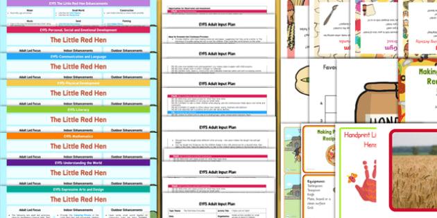 EYFS The Little Red Hen Bumper Planning Pack-Australia