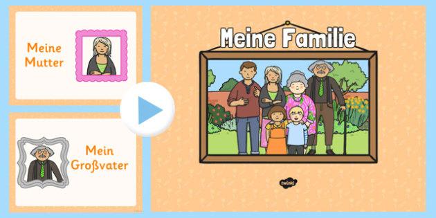 German Family Members PowerPoint - german, family members, powerpoint