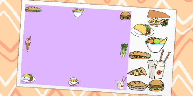Food Themed Editable Powerpoint Background Template Food