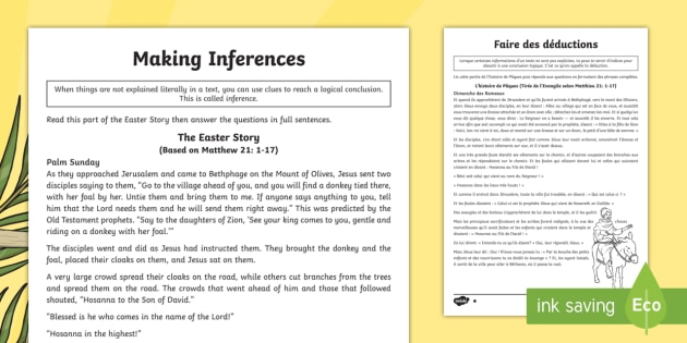new ks2 easter story inference differentiated worksheets english french. Black Bedroom Furniture Sets. Home Design Ideas