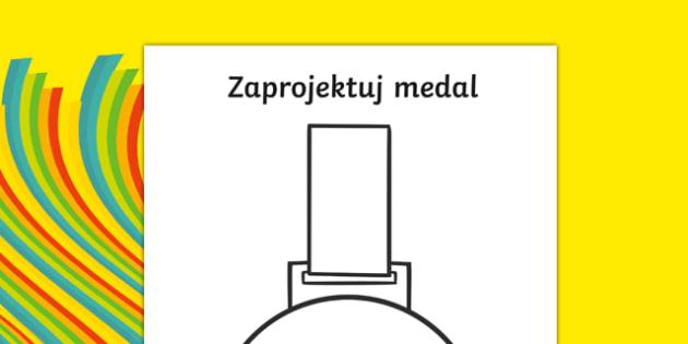 Zaprojektu medal po polsku