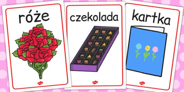 Materialy na gazetke scienna na Walentynki do polsku - szkola , Polish