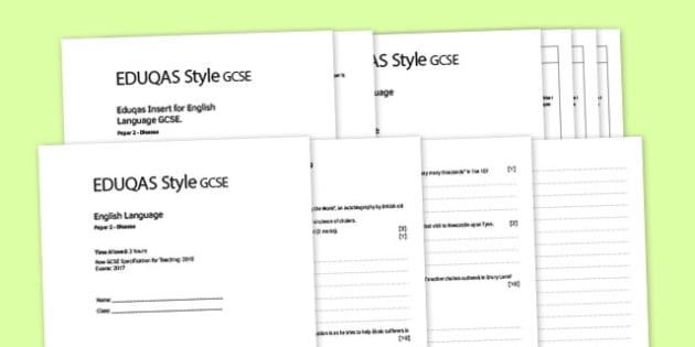 GCSE English Language Eduquas Style Exam P2 Disease Pack - gcse, english language, eduqas, style, exam, disease, pack