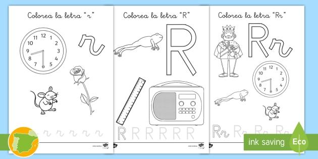 NEW * Hoja de colorear: La letra r - fonemas, fonetica