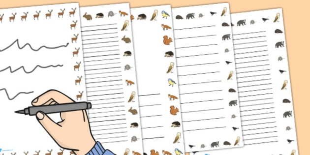 Woodland Creatures Page Borders - woodland, page borders, borders