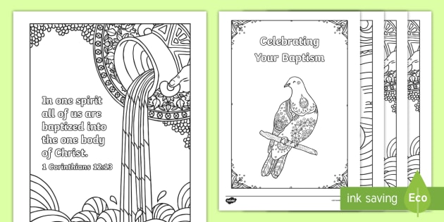 Baptism Mindfulness Colouring Pages Key Stage Two KS2