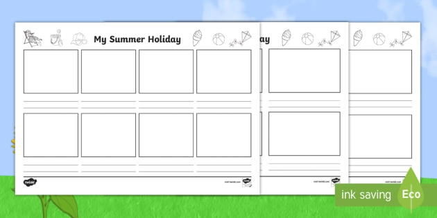 New Ks2 My Summer Holiday Storyboard Template Travelling