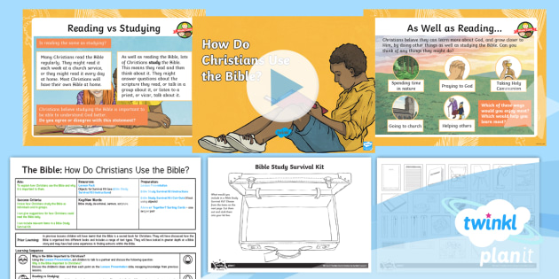 PlanIt RE: The Bible: How Do Christians Use the Bible? Year 4 Lesson 5 - christianity, christian, holy book, religion, old testament, new testament, faith,